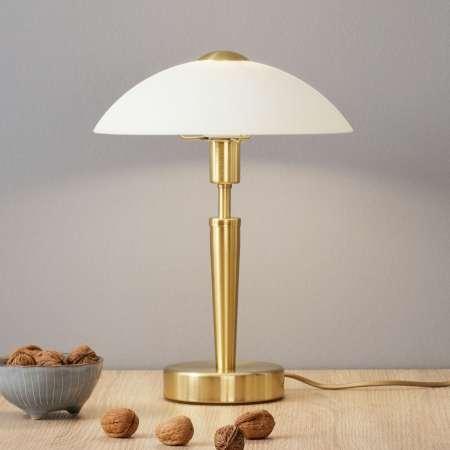 EGLO Stolná lampa Salut mosadzná-biela
