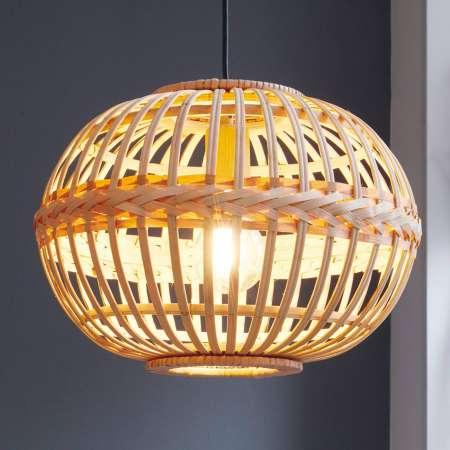 EGLO Závesná lampa Amsfield z bambusu oválny tvar