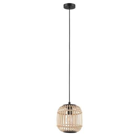 EGLO Závesná lampa Bordesley s dreveným tienidlom 21 cm
