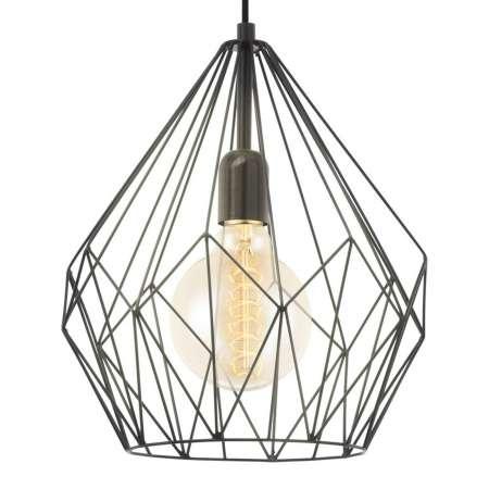 EGLO Závesná lampa Carlton dizajn klietky, čierna