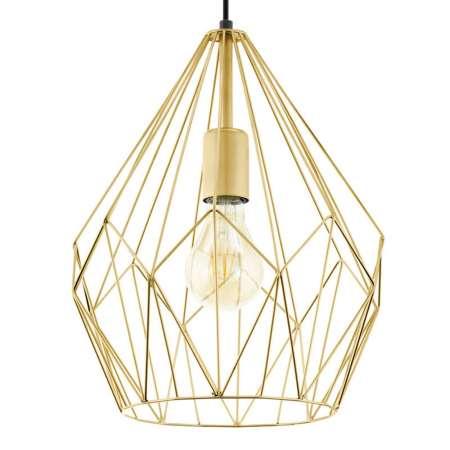 EGLO Závesná lampa Carlton s klietkovým tienidlom zlato