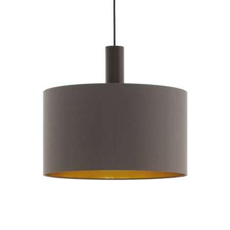 EGLO Závesná lampa Concessa cappuccino/zlatá Ø 38 cm