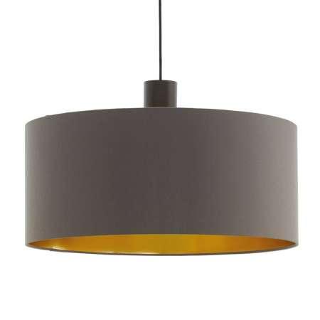 EGLO Závesná lampa Concessa cappuccino/zlatá Ø 53 cm