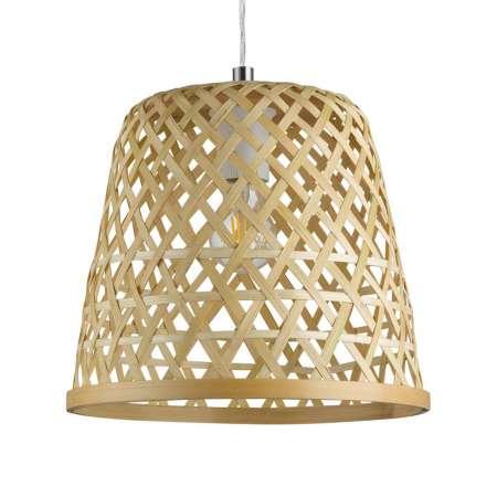 EGLO Závesná lampa Kirkcolm, drevo 30cm, prírodná