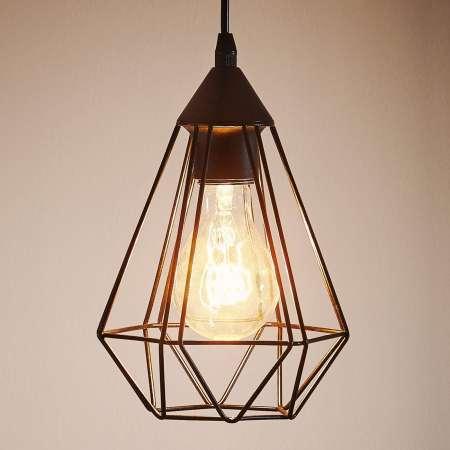 EGLO Závesná lampa Tarbes 1-plameň 17,5 cm čierna