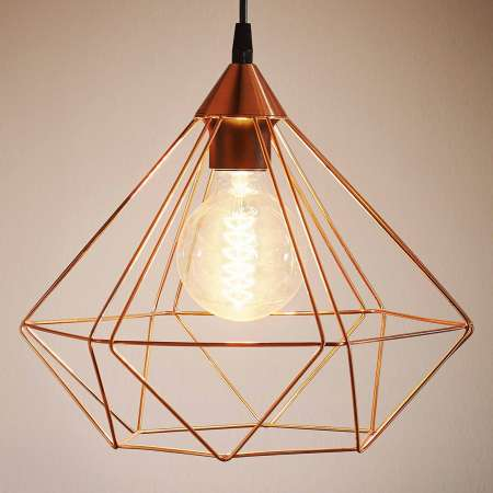 EGLO Závesná lampa Tarbes 1-plameň 32,5cm meď