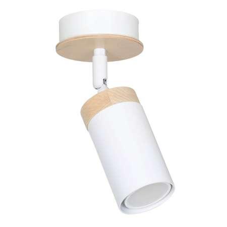 EMIBIG LIGHTING Stropné svietidlo Elba drevená dekorácia 1pl biele