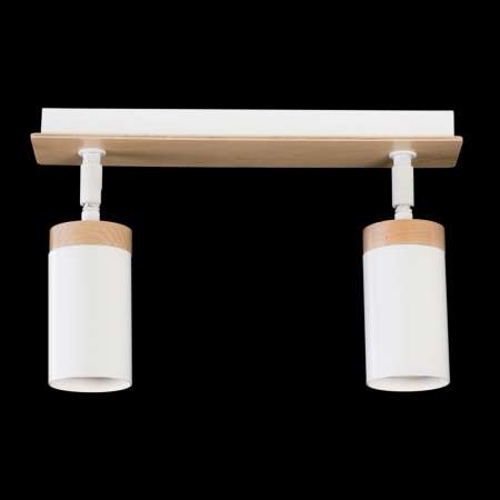 EMIBIG LIGHTING Stropné svietidlo Elba drevená dekorácia 2p biele