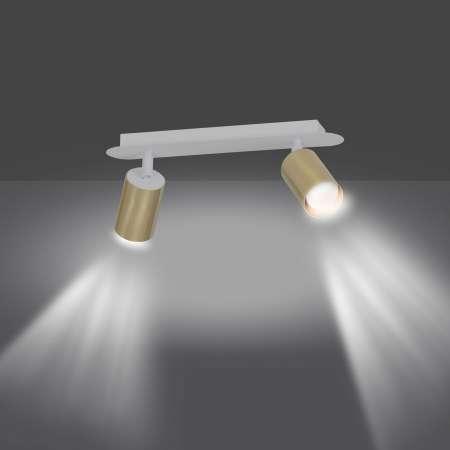 EMIBIG LIGHTING Stropné svietidlo Zen 2, dva body biele-zlaté