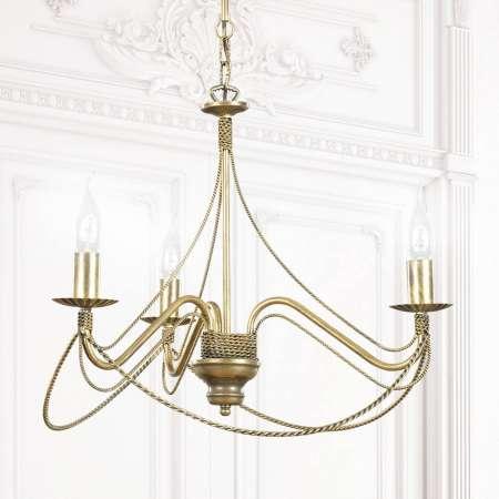 EMIBIG LIGHTING Visiaci luster Tori 3, troj-plameňový, zlatý