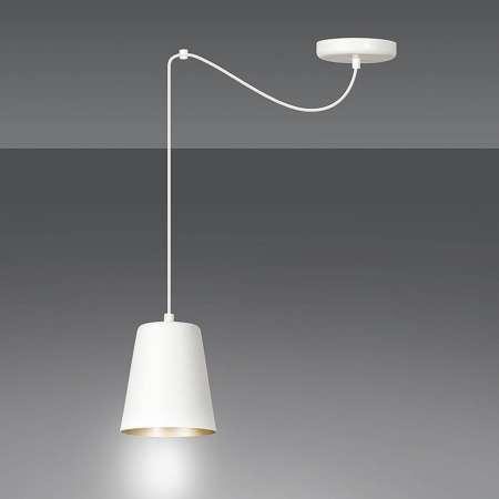 EMIBIG LIGHTING Závesná lampa Link v bielej, jedno-plameňová