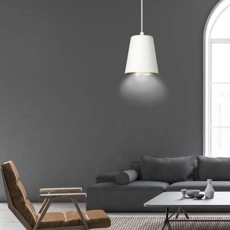 EMIBIG LIGHTING Závesná lampa Milagro, jedno-plameňová biela/zlatá