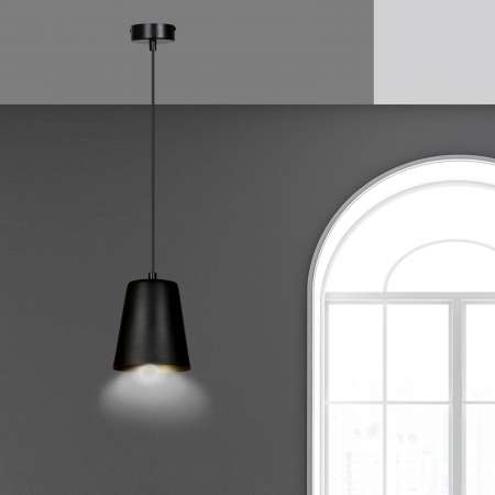 EMIBIG LIGHTING Závesná lampa Milagro jedno-plameňová čierna/zlatá