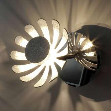 Eco-Light Nástenné LED svietidlo Bloom strieborné
