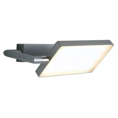 Eco-Light Nástenné LED svietidlo Book, sivé