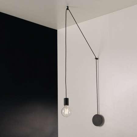 Eco-Light Závesná lampa Habitat decentrálna, 1-pl., čierna
