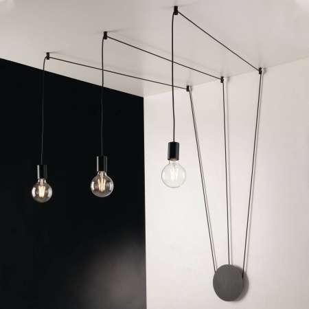Eco-Light Závesná lampa Habitat decentrálna, 3-pl., čierna