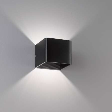 FISCHER & HONSEL Nástenné LED svietidlo Dan, eloxované čierne