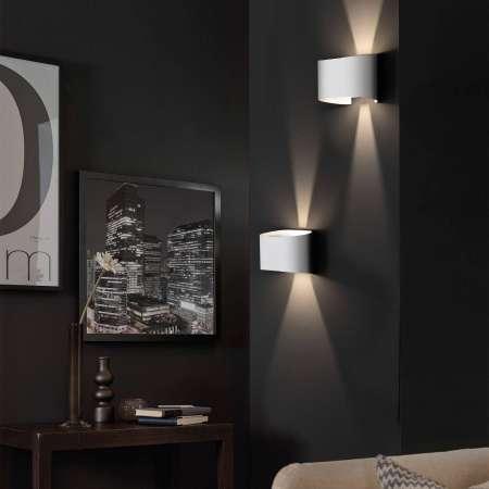 FISCHER & HONSEL Nástenné LED svietidlo Wall 2-pl. okrúhle, biele