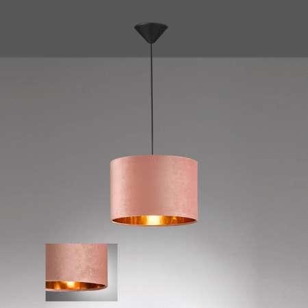 FISCHER & HONSEL Závesná lampa Aura zamatové tienidlo Ø30cm ružová