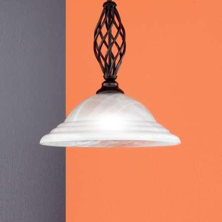 FISCHER & HONSEL Závesná lampa Sybille so skleneným tienidlom, 1-pl