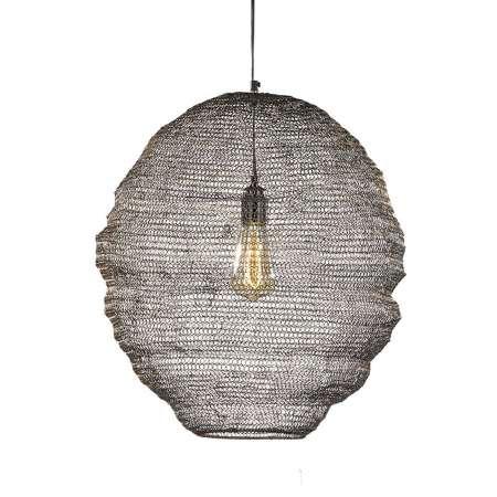 FISCHER & HONSEL Závesná lampa s klietkovým tienidlom Ano Ø 35cm