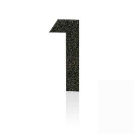 Heibi Čísla z ušľachtilej ocele číslica 1 kávová hnedá