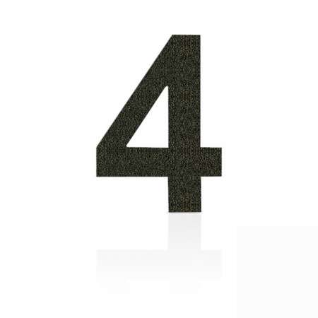 Heibi Čísla z ušľachtilej ocele číslica 4 kávová hnedá