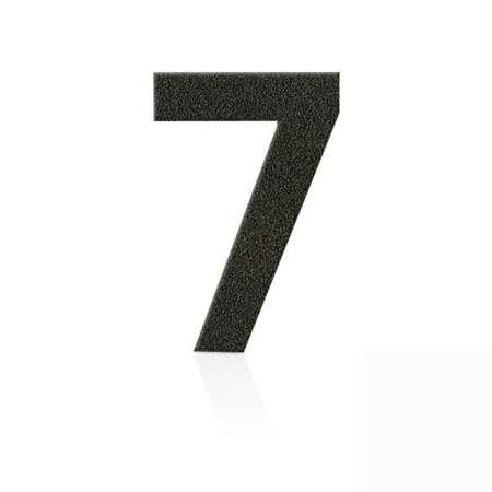 Heibi Čísla z ušľachtilej ocele číslica 7 kávová hnedá