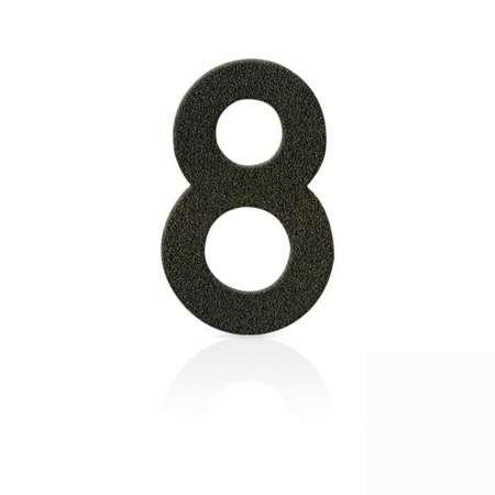 Heibi Čísla z ušľachtilej ocele číslica 8 kávová hnedá