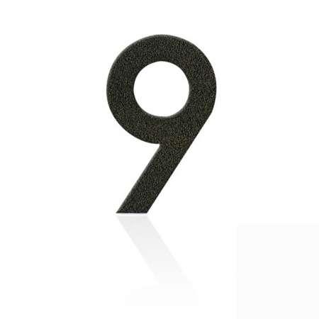 Heibi Čísla z ušľachtilej ocele číslica 9 kávová hnedá