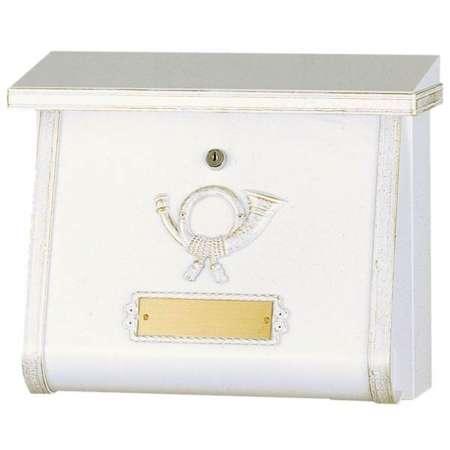 Heibi Poštová schránka MULPI bielo-zlatá patinovaná