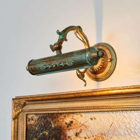 Lindby Anticky pôsobiaca obrazová lampa Kalea