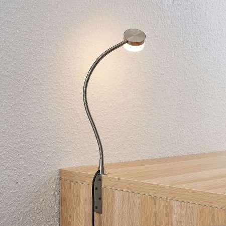 Lindby Lindby Gentjana stolná LED lampa nikel satinovaný