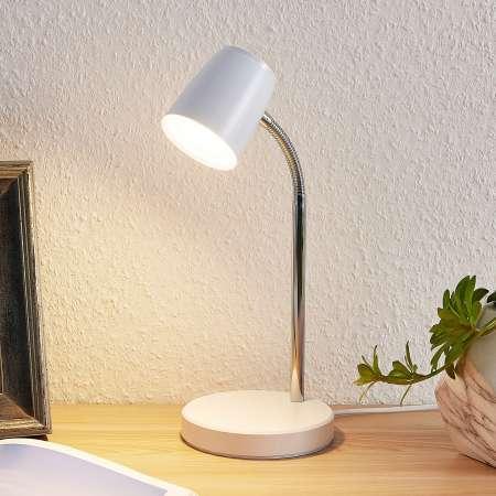 Lindby Lindby Jegor stolná LED lampa v bielej