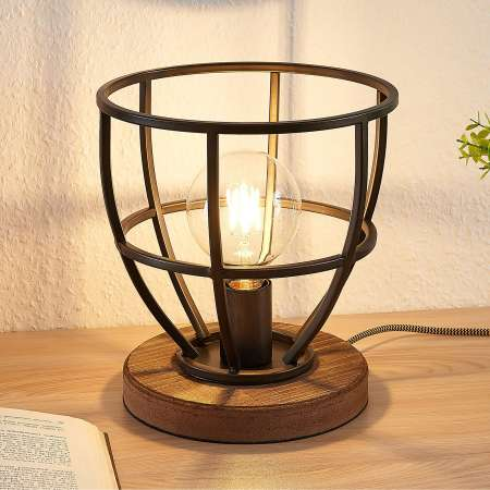 Lindby Lindby Maximilia klietková stolná lampa