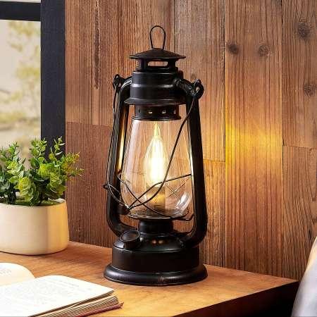 Lindby Lindby Raisa stolná lampa, lucerna, hrdza
