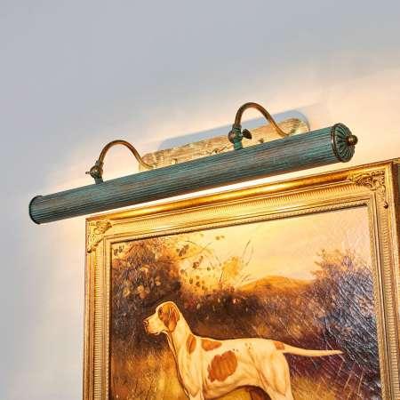 Lindby Obrazová lampa Beno patinový vzhľad 72 cm