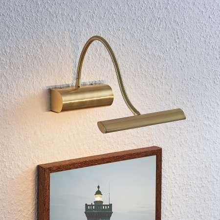 Lindby Obrazové LED svietidlo Rakel flex rameno, mosadz