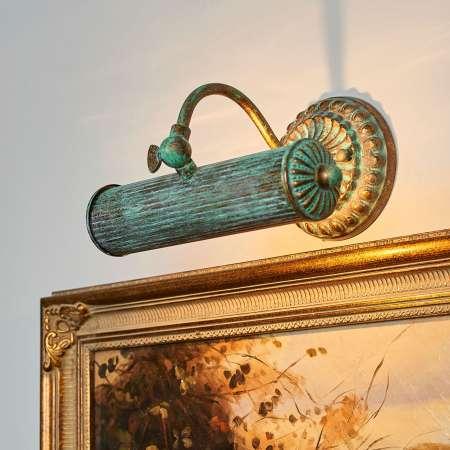 Lindby Obrazové svetlo Beno v patinovom vzhľade
