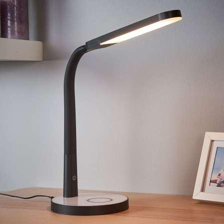 Lindby Stmievateľná stolná LED lampa Maily pripojenie USB