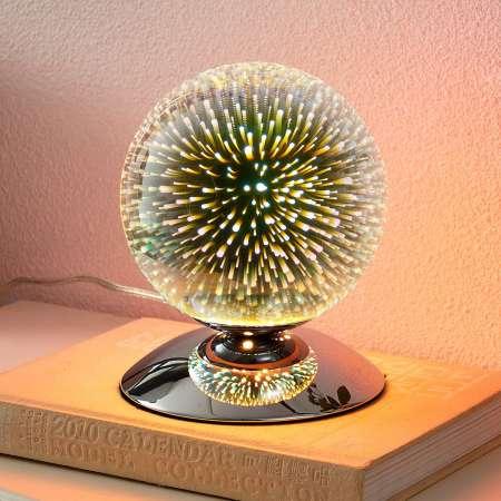 Lindby Stolná lampa Isumi v tvare gule