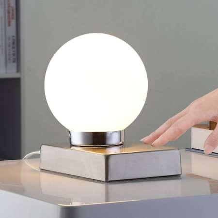 Lindby Stolná lampa Naomi so sklenenou guľou
