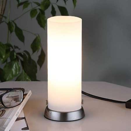 Lindby Valcovitá stolná LED lampa Andrew zo skla
