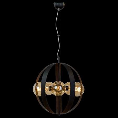 Lis Poland Závesná lampa Livia, päť-plameňová, čierna