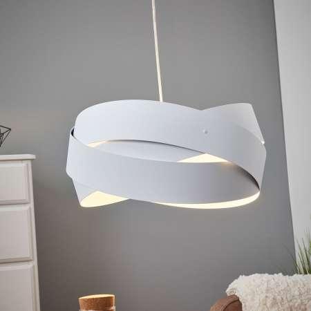 Lis Poland Závesná lampa Tornado, Ø 40cm, biela