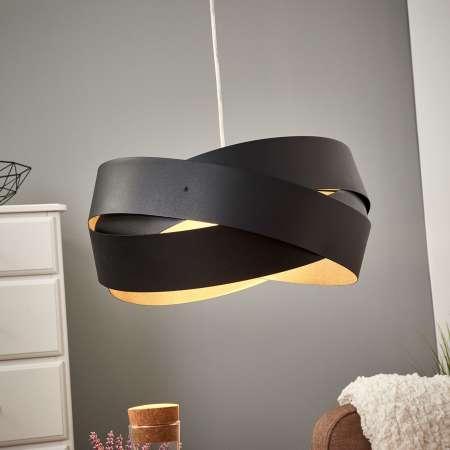 Lis Poland Závesná lampa Tornado, Ø 40cm, čierna