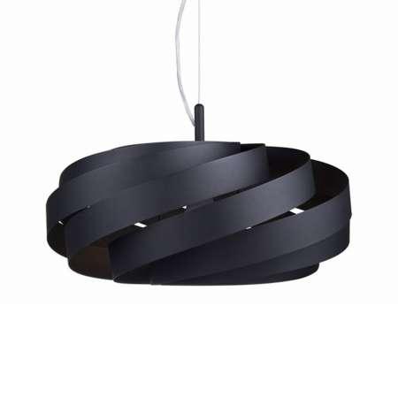 Lis Poland Závesná lampa Vento, čierna, Ø 40cm