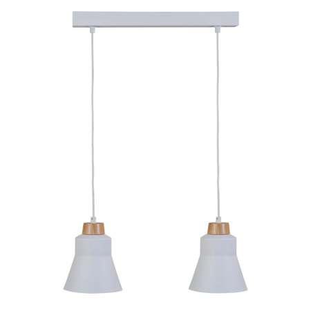 Lis Poland Závesná lampa Wood, dvoj-plameňová, biela