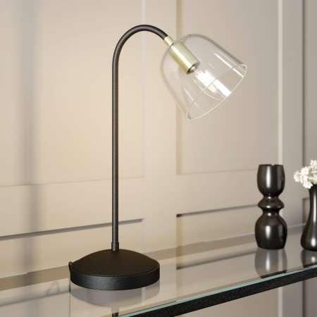 Lucande Lucande Anjita stolová lampa, sklené tienidlo